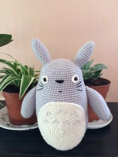 Peluche Totoro peluche Totoro au crochet amigurumi par TyHook