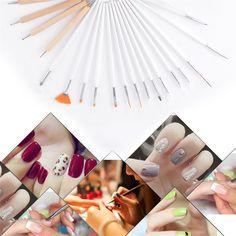 15pcs Set Nail Art Uv Gel Design Pen Painting Brush Set For Salon
