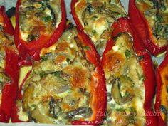 Ζουζουνομαγειρέματα: Γεμιστές πιπεριές Φλωρίνης με μανιτάρια και τυρί! Ratatouille, Vegetable Pizza, Quiche, Recipies, Appetizers, Food And Drink, Vegetables, Cooking, Breakfast