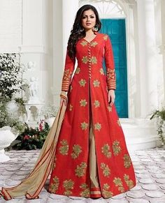 Eye Catchy Anarkali Lehenga Style Salwar Kameez After placed order you should submit Measurement Here Party Wear Kurtis, Party Wear Lehenga, Party Wear Dresses, Dress Party, Wedding Dresses, Indian Gowns Dresses, Pakistani Dresses, Indian Outfits, Pakistani Lehenga