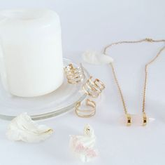 """Conjunto de 3 anéis """"Lines"""" + Fio """"Lost Stone""""  """"Lines"""" Set of 3 rings + """"Lost Stone"""" Necklace // All available at WWW.VANILLAVICE.COM"""