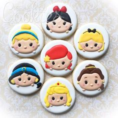 Disney Princesses in Tsum Tsum form.  Currently booked til October 2016.  #creeativecookies #disneycookies #tsumtsum #tsumtsumcookies #kawaii #kawaiicookies #disneyprincess #disneyprincesses #snowwhite #cinderella #aliceinwonderland #ariel #jasmine #belle #aurora #princesses #princesscookies #snowwhitecookies #bellecookies #arielcookies #cinderellacookies #alicecookies #customcookies #decoratedcookies #sugarcookies #decoratedsugarcookies