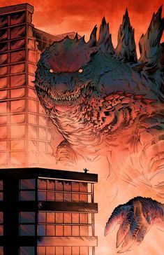 Bill Couture — 'Purposeful Grimace' Kong / Godzilla portfolio of. All Godzilla Monsters, Godzilla Comics, Cool Monsters, Giant Monster Movies, King Kong Vs Godzilla, Godzilla Wallpaper, Monster Art, Creature Design, Mythical Creatures
