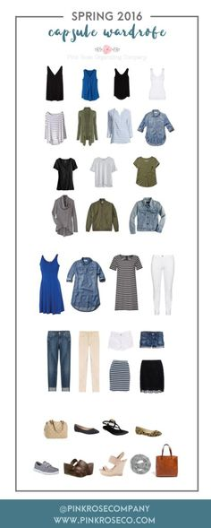 2016 Spring Capsule Wardrobe | Perfect fashion and style solution for busy moms on the go!