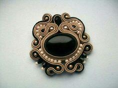 . Soutache Pendant, Soutache Necklace, Soutache Tutorial, Belly Dance Belt, Beaded Jewelry, Handmade Jewelry, Beaded Embroidery, Jewelry Crafts, Jewelery