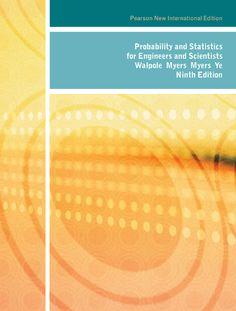 Walpole's Probability and Statistics