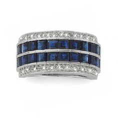 Princess-Cut Sapphire & Diamond Ring | Aston Royal