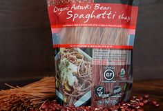 Adzuki Bean Noodles with Bok Choy, Edamame, and Miso Sesame Sauce Dairy Free Recipes, Raw Food Recipes, Vegan Gluten Free, Rice Pasta, Rice Noodles, Pasta Spaghetti, Sesame Sauce, Leave Early, 6 Pack