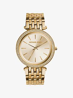 Darci Pavé Gold-Tone Watch by Michael Kors