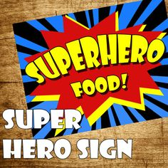 Superhero Party Decorations Sign Superhero Birthday Party Perfect for any party! Print as many as you want only $3.20