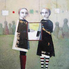 noma bliss art original abstract acrylic mixed media paintings   COLLABORATIVE ART