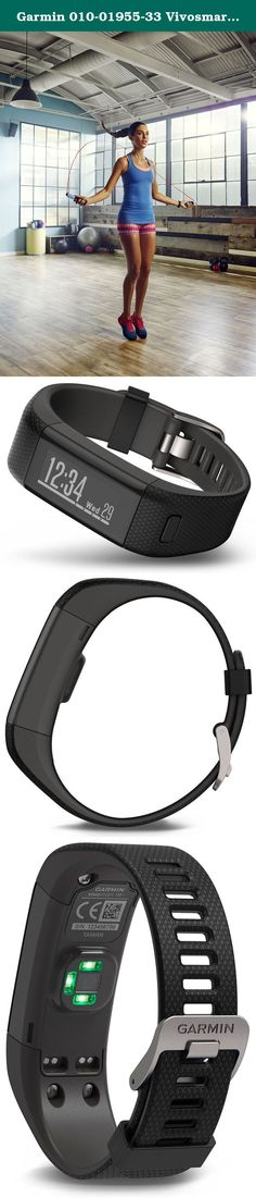 Garmin 010-01955-33 Vivosmart HR Plus - Ww, Black, Extra Large. Turn your steps into strides with vivo smart HR+, the GPS activity tracker with Elevate wrist Heart rate technology. Not only does it count steps, calories, floors climbed and intensity minutes, it also uses GPS satellites to track where you jog or walk, how far and how fast. Its always-on sunlight readable touchscreen display allows you to view your stats and swipe and tap to see more. Pair it with your smartphone to control... Running Gps, Gps Navigation, Heart Rate, Sunlight, Jogging, Floors, Count, Smartphone, Track