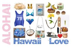"""""""Trip to Hawaii!"""" by unidoodle ❤ liked on Polyvore featuring Melissa, Christofle, Naturana, Levi's, Casetify, Christian Louboutin, Wildfox, Bling Jewelry, Hawaiian Tropic and Victoria Beckham"""