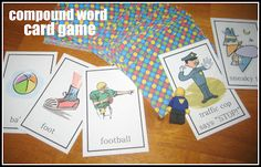 Compound Word Card Game (free printable) from Relentlessly Fun, Deceptively Educational