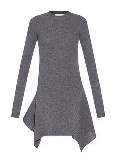STELLA MCCARTNEY Asymmetric-ribbed-knit-dress