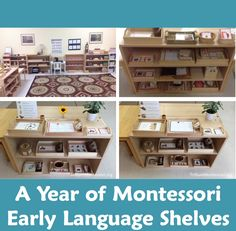 A Year of Montessori Early language Shelves from Trillium Montessori