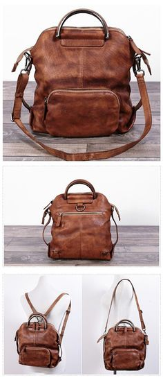 Leather Hand Bag Women Backpack Casual Backpack