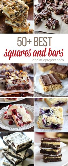 These squares and bars recipes look SO DELICIOUS! From blueberry crumble squares to chocolate chip cookie dough cheesecake bars this list has you covered! Homemade Desserts, Fun Desserts, Delicious Desserts, Dessert Recipes, Yummy Food, Bar Recipes, Healthy Recipes, Holiday Baking, Christmas Baking