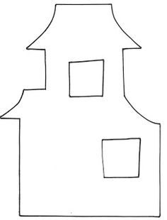 Haunted house pattern for Halloween. Use the printable