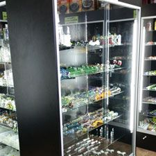 Electronic Cigarettes The Healthier Alternative To Tobacco Products Display Shelves, Store Shelving, Glass Shelves Kitchen, Glass Showcase, Staff Room, Glass Countertops, Glass Cube, Store Fixtures, Slat Wall