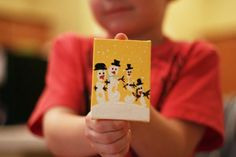 Kids Handprint Snowman Ornaments Party Craft Idea