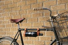 "Bicycle Wine Rack, Leather  - 1"" frame. $29.00, via Etsy."