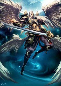 Tsukuyomi, de Gonzalo Ordóñez Arias aka Genzoman. Dios de la luna en la mitología japonesa.