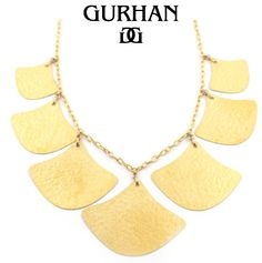 24K Gold Lotus Necklace by GURHAN