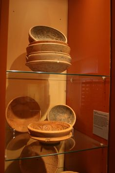 Moulds for terra sigillata bowls of form Dragendorff 37, made at the East Gaulish factory of Rheinzabern