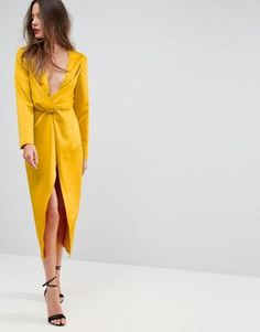 Discover new clothes and latest trends in women's clothing at ASOS. Shop the newest women's clothes, dresses, tops, skirts and more. Order now at ASOS. Suits For Women, Clothes For Women, Yellow Gown, Minimal Wardrobe, Mismatched Bridesmaid Dresses, Yellow Fashion, Designer Gowns, New Outfits, Everyday Fashion