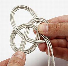Brazalete de cuero trenzado DIY 5
