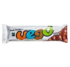 #VEGO #vegan hazelnut chocolate bar #organic #fairtrade #themostdeliciousveganchocolatebar