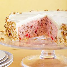 Maraschino Cherry Cake -  I absolutely love maraschino cherries.  Can eat a whole jar at once.  Will have to give this cake a try!