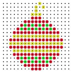 Christmas bauble perler bead pattern