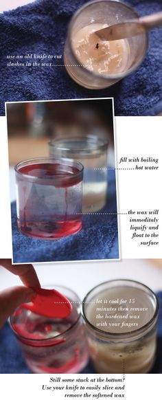 How to Remove Candle Wax From Glass Containers