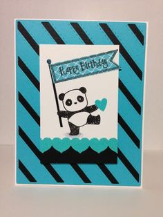 Pandamonium, Stitches and Stripes by beesmom - Cards and Paper Crafts at Splitcoaststampers