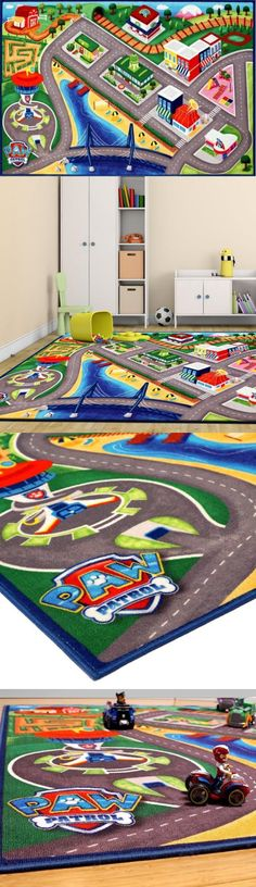 Rugs 154001: Paw Patrol Activity Area Rug Mat Play Kids Toys Cars Room  Decor Nonskid