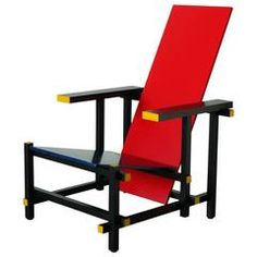 Red and Blue Chair by Gerrit Thomas Rietveld
