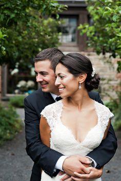 style me pretty - real wedding - usa - new york - pocantico hills wedding - blue hill at stone barns - bride & groom