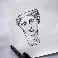 how to draw mermaid Body Art Tattoos, Tattoo Drawings, Art Drawings, Statue Tattoo, Dibujos Tattoo, Stippling Art, Flash Art, Greek Art, Renaissance Art