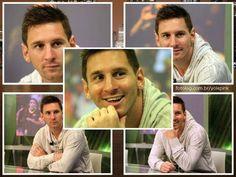 Messi durante entrevista após o último jogo : Olá amigos,