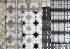 Orizomegami (Fold and dye designs for paper and fabric) via the staggering love