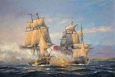"""John Paul Jones: RANGER v. DRAKE, 1778"" (by Patrick O'Brien)"