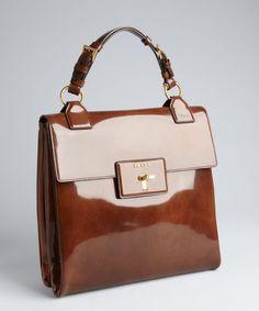 Tobacco Leather - #Fall2014 - Prada Handbag