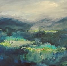 The Blue Hour Acrylic on canvas by Maria Mejia
