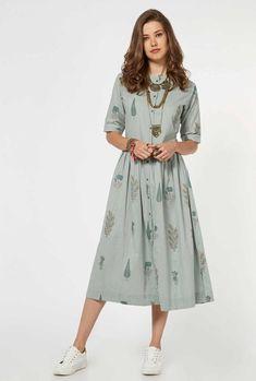 113234e01db Buy Bombay Paisley by Westside Light Green Dress for Women Online   Tata  CLiQ