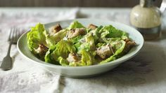 This easy Caesar salad recipe uses all the ingredients you'd expect to find, but varies the method to make it lighter. Small Food Processor, Food Processor Recipes, Salad Recipes Video, Rib Recipes, Healthy Recipes, Classic Caesar Salad, Chicken Caesar Salad, Cheese Salad, Roasted Vegetables