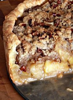 The Noshery – Deep Dish Spiced Caramel Apple Pie