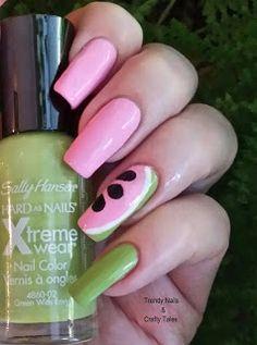 Trendy Nails & Crafty Tales: Watermelon Mani