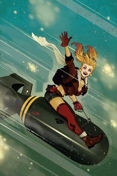 DC Comics Bombshells Harley Quinn plakat 61 x 91 cm - Alle produkter Dc Comics Superheroes, Dc Comics Art, Comics Girls, Batwoman, Comic Books Art, Comic Art, Marvel Dc, Harley Quinn Et Le Joker, Der Joker